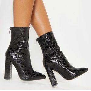 Black Crocodile Heel
